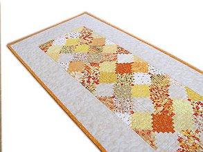"""Úžitkový textil - Obrus - štóla """"Žlté zruby"""" - 10990136_"""