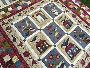 Úžitkový textil - Buttermilk Blossoms... prehoz - 10990310_