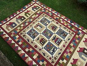 Úžitkový textil - Buttermilk Blossoms... prehoz - 10990318_