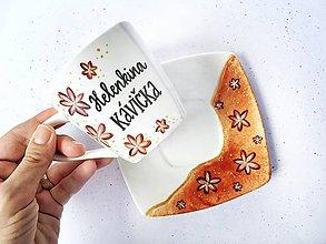 Nádoby - Zamatové kvety - na kávičku s menom - 10991011_
