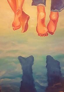 Obrazy - Spolu nad vodou... - 10990449_