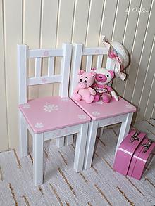 Nábytok - Detská stolička v ružovom - BUKOVÁ - 10988200_