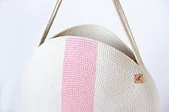 Batohy - Kabelka kulatá růžová - 10989235_