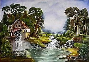 Obrazy - Mlyn pri rieke - 10988311_