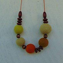 Náhrdelníky - ...plstený náhrdelník... - 10990540_