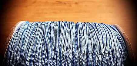Galantéria - Shamballa šnúrka 1,5 mm nylonová - Modrá belasá - 10989605_