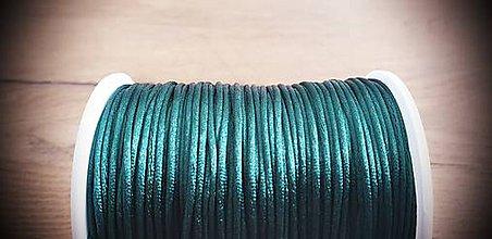 Galantéria - Shamballa šnúrka saténová 1,5 mm - kráľovská modrá (Tmavá zelená) - 10989892_