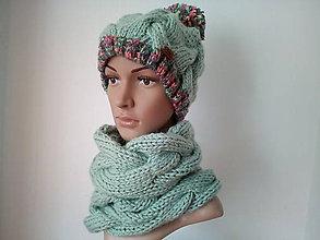 """Opasky - pletený set """"mint"""" - 10990706_"""