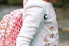 Detské tašky - Detský ruksak - zajko v tulipánoch - 10988301_