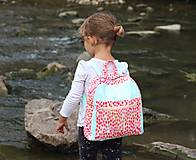 Detské tašky - Detský ruksak - zajko v tulipánoch - 10988302_