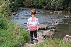 Detské tašky - Detský ruksak - zajko v tulipánoch - 10988304_