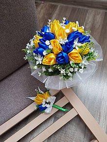 Kytice pre nevestu - Svadobná kytica s tulipánmi - 10988961_