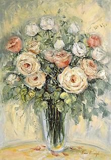 Obrazy - Jemnosť ruží - 10990662_
