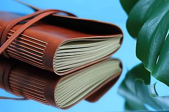 Papiernictvo - Kožený zápisník ORANGE A5 - 10990563_