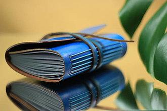 Papiernictvo - Kožený zápisník TURQUOISE A6 - 10990983_