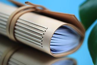 Papiernictvo - Kožený zápisník NATURAL A6 - 10991248_