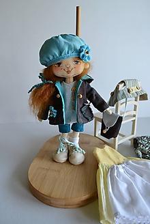 Hračky - Priateľky do kabelky. Textilná bábika (menšia) - Babeta - 10990550_