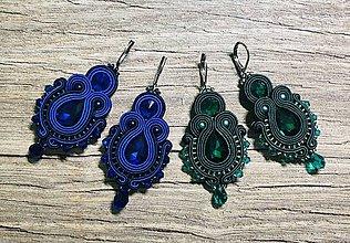 Náušnice - Sujtášové náušnice Meghan (Modrá) - 10988256_