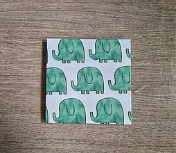 Papiernictvo - Leporelo 13x13 ,,Sloníčata alebo sloní bratia,, - 10990200_