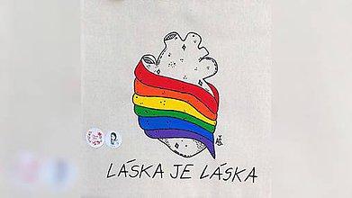 Iné tašky - ♥ Plátená, ručne maľovaná taška ♥ - 10989964_
