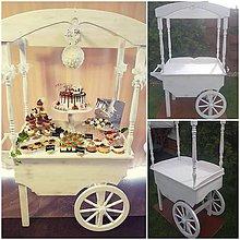 Nábytok - Candy bar, svadobny vozik - 10988129_