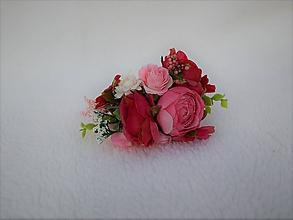 Ozdoby do vlasov - Kvetinová čelenka - 10990782_