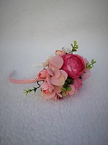 Ozdoby do vlasov - Kvetinová čelenka - 10990786_