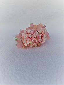 Ozdoby do vlasov - Kvetinová čelenka - 10990816_