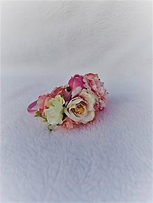 Ozdoby do vlasov - Kvetinová čelenka - 10990969_