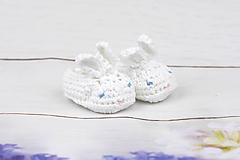 Topánočky - Biele papučky zajačik EXTRA FINE - 10988995_