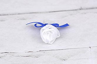 Pierka - Pierko biele ruža (bielo-kráľovsky modré) - 10989261_