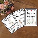 Papiernictvo - Svadobné miľníkové kartičky 16 ks (A5) - 10989501_