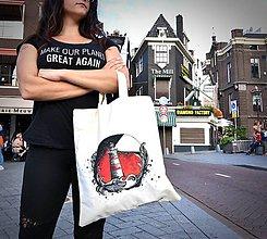 Nákupné tašky - Maják - eko nákupná taška - 10989765_