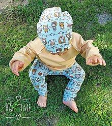 Detské oblečenie - Bio baby nohavice v pistáciovej farbe - 10988435_