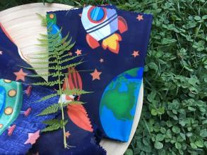 Úžitkový textil - Voskuľka - DETSKÝ VESMÍR - 10990275_
