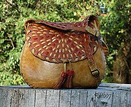 Kabelky - Ručně šitá kožená kabelka Arizona - 10990615_