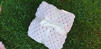 Textil - Háčkovaná detská deka - 10990646_