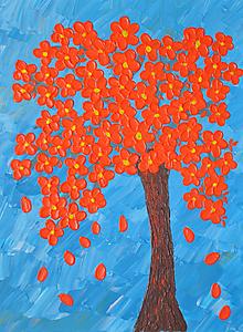 Obrazy - Oranžový strom - 10989817_
