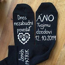 Obuv - Maľované ponožky pre ženícha na želanie - 10990905_