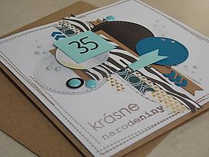 Papiernictvo - ...pohľadnica k narodeninám... - 10988705_