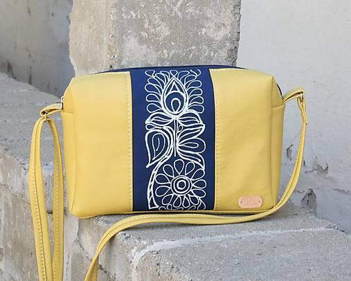 modrotlačová kabelka Rebeka žltá AM1