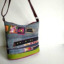 "Veľké tašky - Kabelka ""Pestrodžínovka"" - 10989925_"