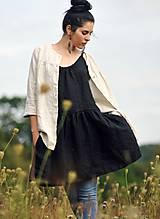 Šaty - Lněné šaty /šatovka černá - 10990681_