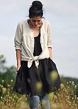 Šaty - Lněné šaty /šatovka černá - 10991201_