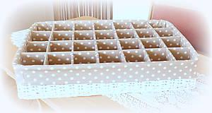 Košíky - Košík - ponožkáčik na 28 kusov - 10989636_