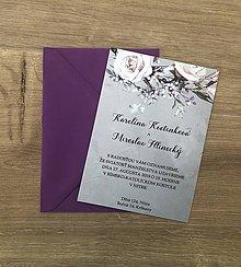 Papiernictvo - Kartičkové svadobné oznámenie - 10989598_