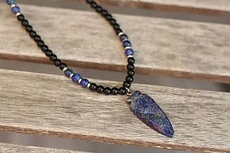 Šperky - Pánsky náhrdelník z minerálov lapis lazuli, onyx, jaspis - 10989342_