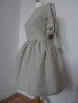 Šaty - Ľanové šaty - 10496300_