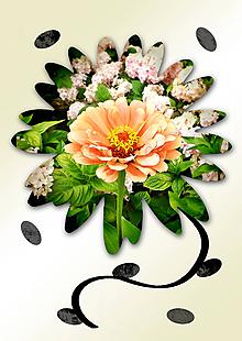 Grafika - Kvety v kvete (kráľovná dňa) - 10989716_
