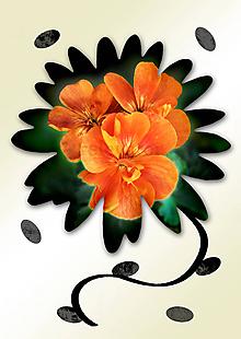 Grafika - Kvety v kvete (živý oheň) - 10990004_